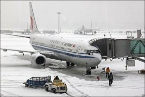 Обильные снегопады в Китае