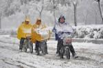 В Китае разыгралась зимняя стихия