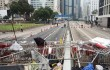 Демонтаж баррикад в Гонконге