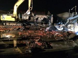 Пожар на китайской фабрики