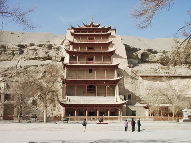 Пещерный комплекс в провинции Ганьсу