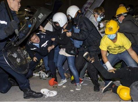 Противостояние в Гонконге 19 ноября