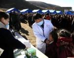 Последствия землетрясения в Тибетском районе Китая