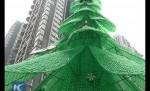 Елку из пластиковых бутылок установили в Китае