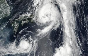 Еще два тайфуна идут на Китай