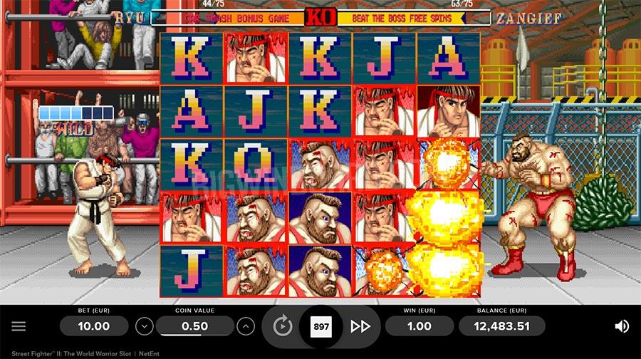 История игрового автомата Street Fighter II – версия казино Голдфишка