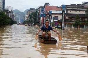 Из-за наводнения в Китае погибли 9 человек