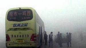 Из-за смога на северо-востоке Китая парализовано движение транспорта 2