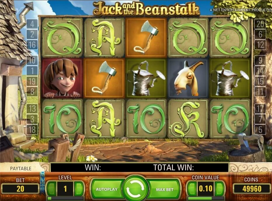 Jack and the Beanstalk от Net Entertainment