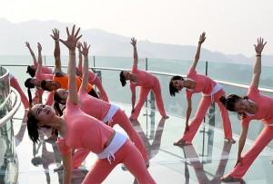 Как китайцы фитнесом занимаются