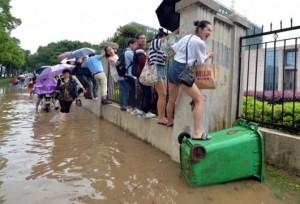 Китае прошел сильный ливень