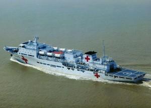 Китайский корабль помогает гражданам Брунея