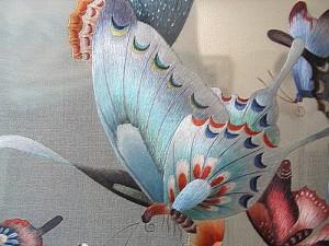 Китайское рукоделие шелковая вышивка