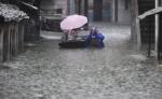 Ливневые дожди продолжаются на территории восточного Китая
