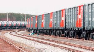 На границе России и Китая образовался затор из поездов с лесом
