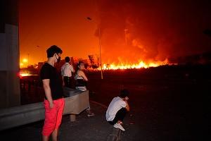 На месте взрыва в Китае найден цианид