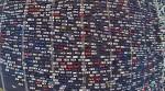 На пятидесятиполосном шоссе в КНР образовалась огромная пробка
