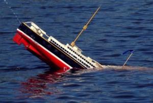 На территории КНР перевернулся грузовой корабль