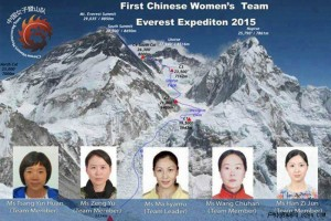 На вершину Эвереста впервые поднимется женская команда из Китая