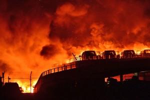 На востоке КНР возникло несколько пожаров