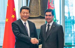 Президент Туркменистана провел встречу с председателем КНР