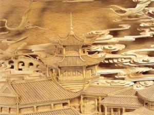 Резьба по дереву в Китае
