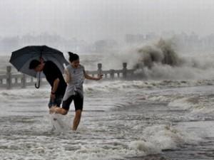 Шторм  Рамбиа приближается к китайскому побережью