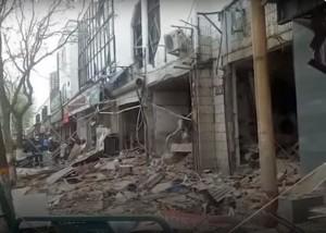 Сильный взрыв в одном из магазинов Китая попал на видео