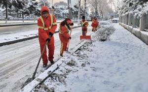 Снегопад в Китае привел к параличу дорожного движения