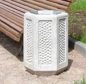 Современные бетонные урны китайского производства