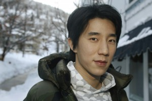 "Jaycee Chan, 26, star of the film ""The Drummer"" by Hong Kong director Kenneth Bi, poses at the 2008 Sundance Film Festival"