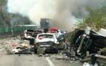 Три десятка автомобилей столкнулись на скоростной трассе в КНР