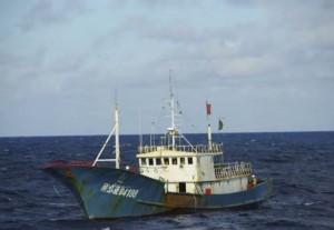 У берегов Китая неизвестными было захвачено рыболовецкое судно