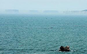 Удивительный мираж – город на море в Китае