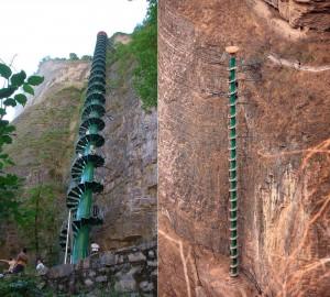 Удивительные лестницы в китайских горах