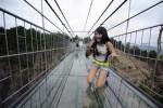 В КНР соорудили мост для любителей экстрима