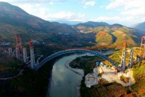 В Китае достроили самый длиннопролетный в мире железнодорожный арочный мост