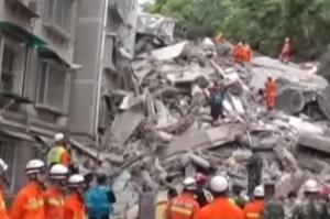 В Китае оползень разрушил девятиэтажный дом