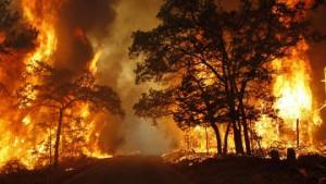 В Китае опять бушует пожар