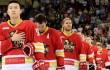 В Китае остановили матч ВХЛ из-за дыры в борте