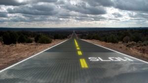 В Китае открыта первая в мире фотоэлектрическая дорога