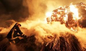 В Китае сгорела башня, построенная более 600 лет назад