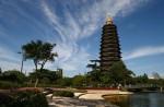 В Китае сгорела самая большая буддийская пагода в мире