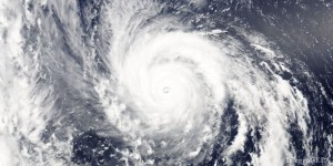 epa04871899 A handout image dated 04 August 2015 and made available by NASA showing a visible-light image of super typhoon Soudelor, west of Mariana Islands, captured with MODIS instrument aboard NASA's Aqua satellite, showing its 12-nautical-mile-wide eye (C). Thick bands of powerful thunderstorms surround the storm and spiral into the center. The Joint Typhoon Warning Center forecast takes Soudelor on a west-northwesterly path near the Japanese island of Ishigakijima on 07 August and then over northern Taiwan before making landfall in southeastern China on 08 August. The storm is predicted to weaken as it continues on its trek to the west-northwest. Interests in the path of this Super typhoon should prepare for storm surge, heavy rainfall, mudslides in high terrain areas, and typhoon-force winds.  EPA/NASA / Goddard's MODIS Rapid Response Team / HANDOUT  HANDOUT EDITORIAL USE ONLY