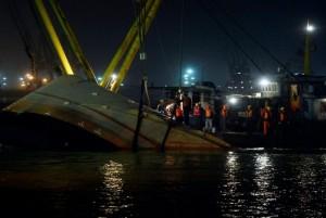 В Китае столкнулось 2 судна