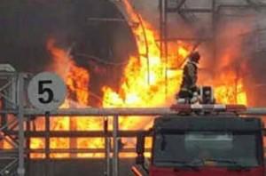 В Китае тушат пожар на нефтехимическом предприятии