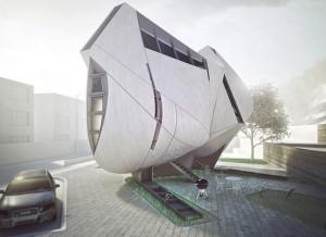 В Китае возведут дом-скульптуру с футуристическом фасадом