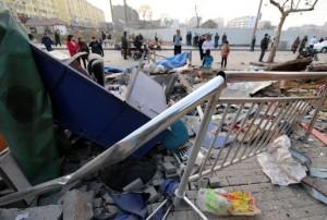 В Китае взрывами были уничтожены рынок, салон красоты и автомобиль