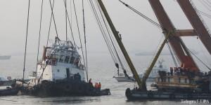 В Китае затонул буксир 20 человек пропали без вести