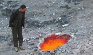 В Китае здешние жители нашли «врата в ад»